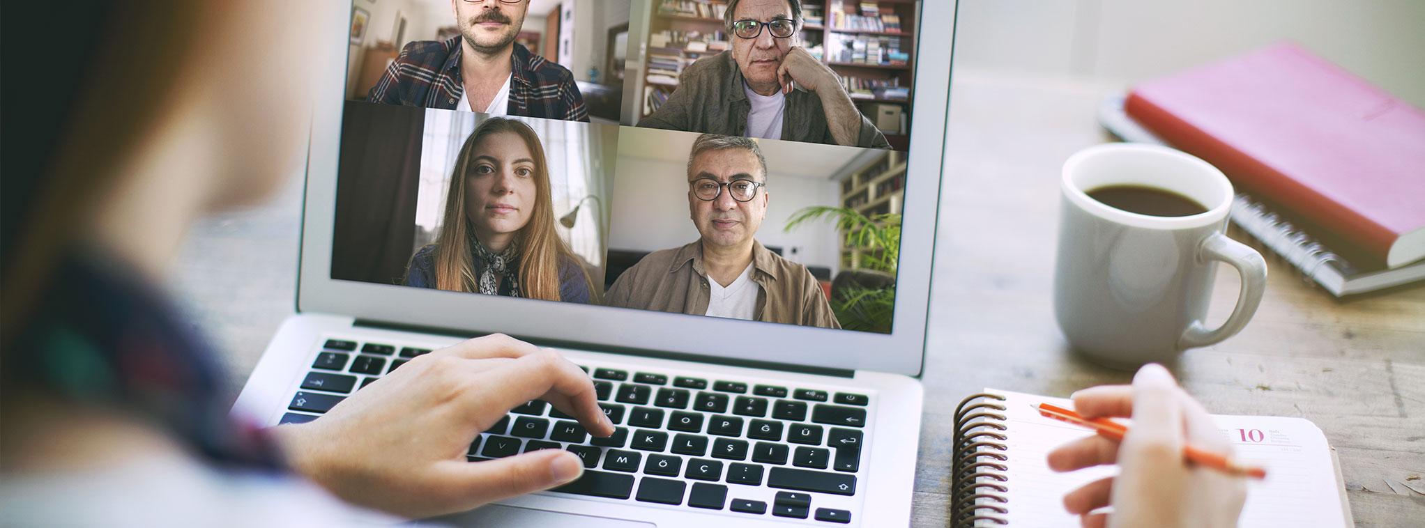 Remote Work Meeting