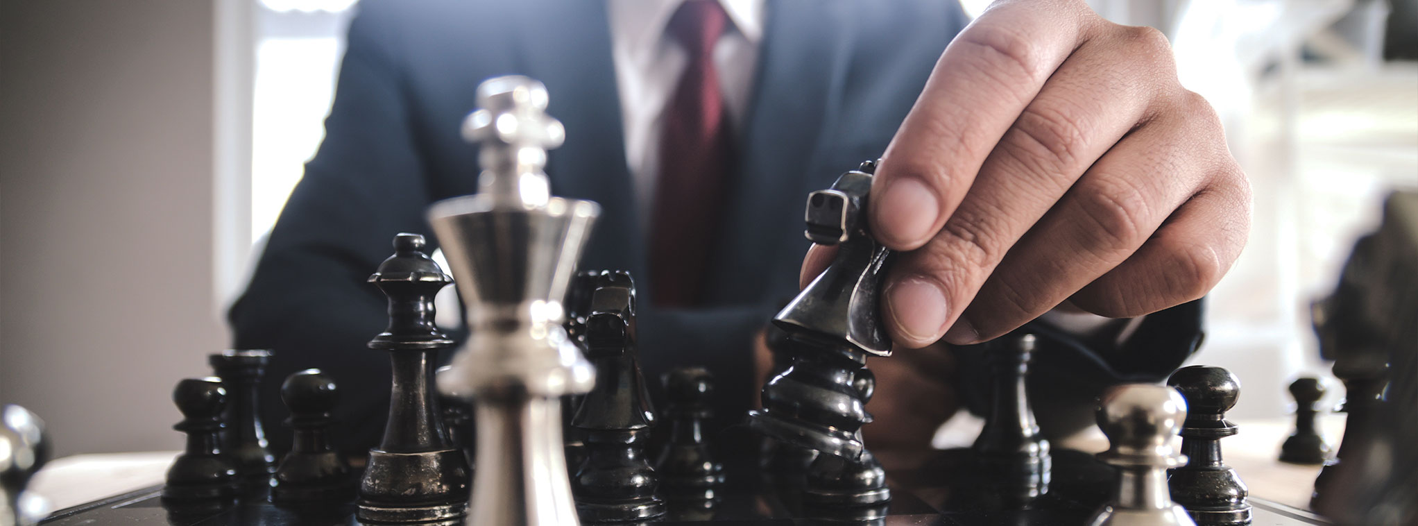 Business Leader Playing Chess