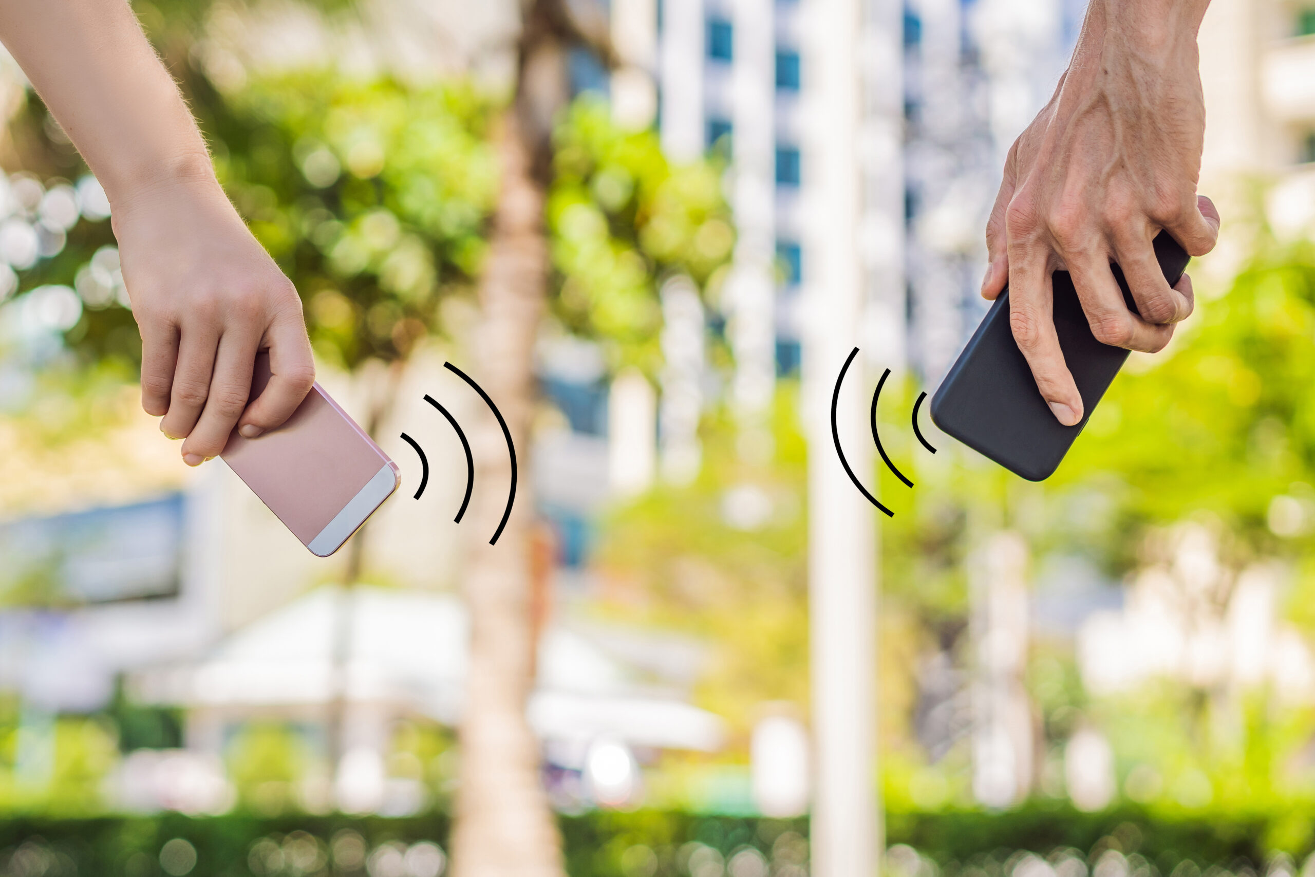 Bluetooth via contact tracing.